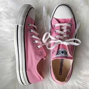 CONVERSE Pink All Star Ox Chuck's Sneakers M6/W8